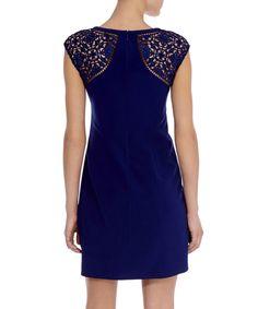 Karen Millen Navy cut-out embroidery dress, Designer Dresses Sale, Karen Millen , SECRETSALES