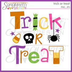 Trick or Treat Clipart Halloween Clipart by SanqunettiDesigns