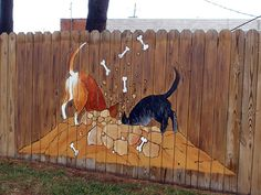 I saw this painted on the fence at a local veterinarian's fence (James River Animal Hospital).