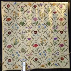 Joyce Saia has fashioned a quilt after one made by William Morris´ wife.