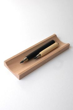 Wooden Pen Tray