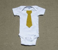 Tie Onesie. $10.00, via Etsy.  Lots of colors available!