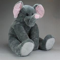 From large and small stuffed elephants, elephant puppets, baby safe stuffed elephants, and even realistic elephant stuffed animals, Stuffed Safari. Giant Stuffed Animals, Elephant Stuffed Animal, Stuffed Toys, Elephant Nursery Girl, Elephant Love, Elephant Art, Plush Animals, Felt Animals, Elephant Pattern