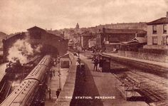 Old Photos of Penzance in Cornwall, England, United Kingdom of Great Britain Places In Cornwall, Devon And Cornwall, Penzance Cornwall, South West Coast Path, Disused Stations, My Family History, Kingdom Of Great Britain, Truro, Great Western