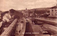 RAILWAY STATION   Penzance, Cornwall: Historical image     ✫ღ⊰n