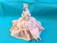 Antique Porcelain Half Doll Girl & Legs Pincushion Germany $145. Ebay