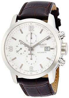 9fd416f870f5 Amazon.com  Tissot Men s Automatic Stainless Steel and Brown Leather Dress  Watch (Model  T0554271601700)  Tissot  Watches. Relojes Hombre