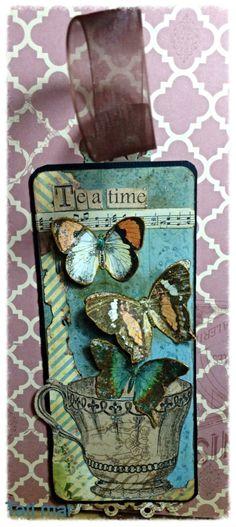 tea time bookmark by Tati Scrap