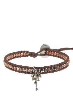 Rose Gold Tamba Single Charm Wrap Bracelet - Chan Luu
