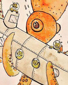 #yellowhamster #squid #watercolor #hamster