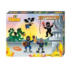 Buy Hama Beads Knights Gift Box from our gift range at English Heritage. Buy Toys, English Heritage, Medieval Knight, Bank Holiday Weekend, Creative Skills, Hama Beads, Little Ones, Arts And Crafts, Baseball Cards