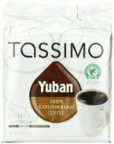 Tassimo Yuban 100% Colombian Coffee, Net Wt. 3.88 Oz, 14-Count T-Discs //  Description Yuban 100% Colombian Coffee T DISC, 14-Count for the TASSIMO Single Cup Brewer. T DISCs are exclusively made for TASSIMO brewers. At the touch of a button, TASSIMO's INTELLIBREW technology reads the barcode on each T DISC to measure the right amount of water, brew time and temperature for a perfect café-style be// read more >>> http://Swindle664.iigogogo.tk/detail3.php?a=B006ZI66J0