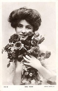 Victorian beauty with roses