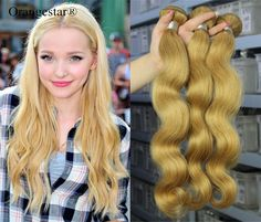 Golden Blonde Body Wave Remy Hair Weave 7A Brazilian Human Hair Extension 300g #Orangestar #WaveBundle