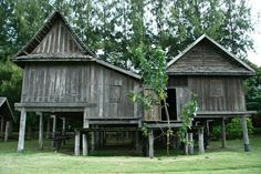 Jim Thompson Farm Timber Architecture, Vernacular Architecture, House On Stilts, Wooden House, Tiny House, Shed, Tropical, Outdoor Structures, Cabin