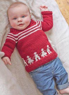 Kırmızı beyaz örgü çocuk kazak | Örgü Modelleri - Örgü Dantel Modelleri