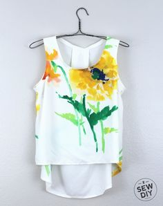 Floral Tank McCall's M6751 by Sew DIY | Project | Sewing / Shirts, Tanks, & Tops | Kollabora