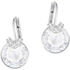 Swarovski Bella Crystal Hoop Earrings (265 RON) ❤ liked on Polyvore featuring jewelry, earrings, silver, swarovski crystal jewelry, swarovski earrings, crystal hoop earrings, swarovski jewelry and round earrings