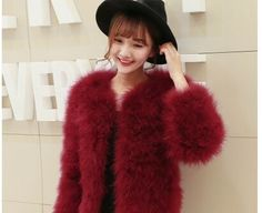 2016 autumn winter top clothes fur coat real ostrich wool turkey feather coat shearling women jackets elegant fashion luxury