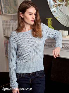 Jumper for women: free knitting pattern