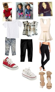 """""""Arielle and her kids August and Auburn"""" by fashionchoice ❤ liked on Polyvore featuring moda, 77kids, Converse, Quiksilver, Gap, Jane Norman, Athleta y Steve Madden"""