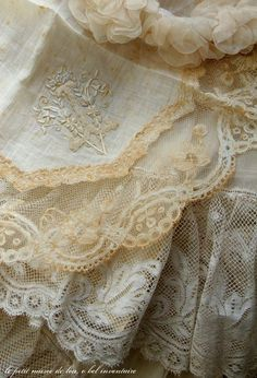 Antique Embroidered Lace