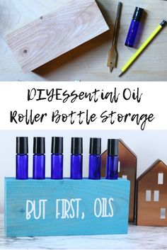 How to make roller bottle essential oil storage. If you need essential oil storage ideas for your roller bottles, check this out. Diy essential oil storage diy for your rollers. This is an inexpensive storage for essential oils roller bottles. Essential Oil Holder, Essential Oils For Pain, Essential Oil Storage, Essential Oil Bottles, Essential Oil Uses, Chamomile Essential Oil, Packaging, Natural Cleaning Products, Diy Storage