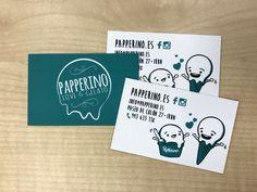 Ilustración y diseño de tarjetas de visita para Papperino Irun.