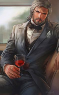 Master in dress suit by aenaluck on DeviantArt Anime Art Fantasy, Fantasy Art Men, Character Portraits, Character Art, Character Design, Dnd Characters, Fantasy Characters, Ange Demon, Guy Drawing