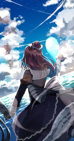 #Sky #Anime #Sea #Blue sky XD