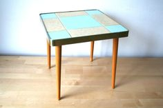 Mid Century coffee table from Berlin turquoise by vintageekho, €95.00