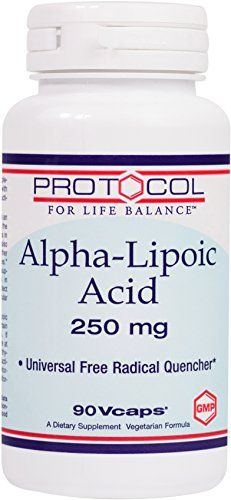 Protocol For Life Balance  AlphaLipoic Acid 250 mg  Universal Free Radical Quencher  90 Vcaps *** Learn more by visiting the image link.