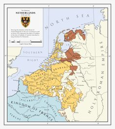 A historical map of the situation in the Netherlands on the eve of the Guelders War. This is the first map I've ever made entirely in Illustrator, so le. The Habsburg Netherlands Old World Maps, Old Maps, Holland Map, Netherlands Map, Holy Roman Empire, Map Globe, Country Maps, Alternate History, Vintage Maps