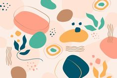 Download Abstract Organic Shapes Background for free