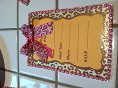 Love the cheetah and pink for a baby shower :) A bit more subtle than zebra and hot pink!