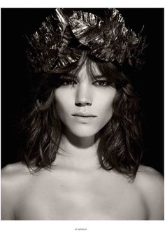 Freja Beha Erichsen as Apollo by Karl Lagerfeld for Pirelli