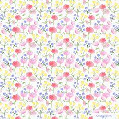 floral watercolour print by mandyjoy.com