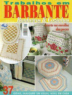 Katia Ribeiro Acessórios: Revistas Completas Jogos de Banheiro e Cozinha Crochê