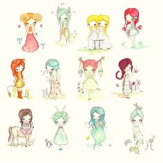 Sweet zodiac girls
