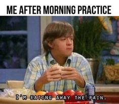When the only way to cope after a morning practice is this: