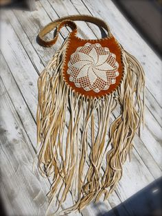 NEW PRICE!!!!! stunning buffalo suede bag - extra long deer suede tassels and crochet - traditionally handcrafted in native american style by nelijaseedsoflove on Etsy https://www.etsy.com/listing/196473164/new-price-stunning-buffalo-suede-bag