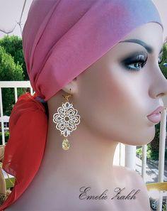 PDF Tatting Pattern Tamara set earring and by Emeliebeads