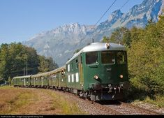 High quality photograph of SBB Historic Bm II # 18451 at Salez-Sennwald, Switzerland. Location Map, Photo Location, Swiss Railways, Diesel Locomotive, Diesel Engine, Switzerland, Climbing, Europe, Running