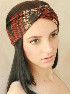 "Turban Twist - Turban Headband, African Headwrap,Twisted Headband, Fabric Hairband, Headscarf, Brown African Print Hairband via Etsy Click ""Like"" See more crochet patterns: https://www.etsy.com/shop/Patternstriedandtrue Find my blog for tips: http://patternstriedandtrue.wordpress.com"