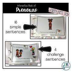 Pronouns Interactive Book {VALENTINE'S DAY}