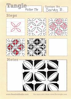 BEEZ in the Belfry: Tangle of the Week - Flutter Tile