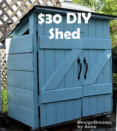 DesignDreams by Anne: The Mini Shed Project aka I built a shed for $30 COULD BE USED FOR TRASH AND RECYCLE BINS UNTIL PICK UP OR TAKE OUT DAY.