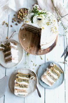 Vegan Matcha Tres Leches Cake with Pistachio Milk - The Little Plantation Blog