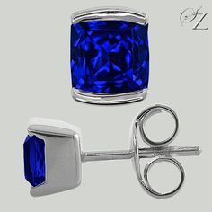 These could be your go-to every day Tanzanite studs. Wonderful, deeply saturated cornflower blue Tanzanite cushions in half bezels of white gold. Absolutely perfect. Tanzanite Earrings, Stud Earrings, Rare Gemstones, Gemstone Jewelry, Jewelry Collection, Studs, Jewelry Design, White Gold, Cushions