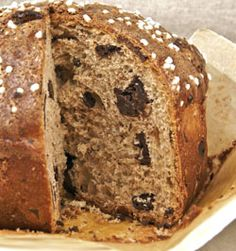 i like making bread for gifts. chocolate panettone.